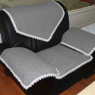 真皮沙发坐垫组合会议室单人靠背扶手巾四季防滑布艺简约现代亚麻好不好