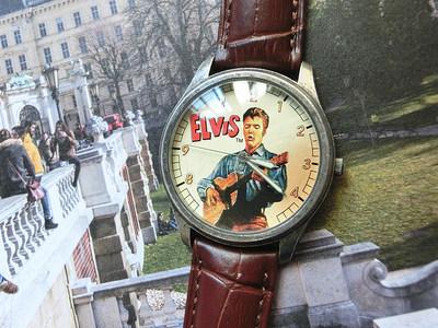 美国带回正品Fossil联名ELVIS猫王复古画报全球限量版20000男手表