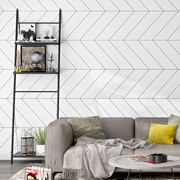 Nordic style wallpaper ins modern minimalist geometric pattern line graphic bedroom living room TV background wallpaper