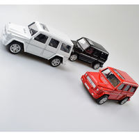 Simulation 1:32 alloy off-road Mercedes-Benz car pull back car model male god birthday baking cake decoration pendulum