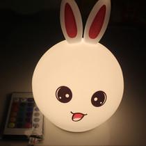 硅胶灯儿童礼物小夜灯减压拍拍灯充电台灯卧室床头灯创意七彩动物