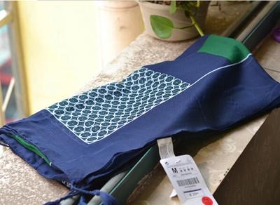 韩国大牌绿色圈圈棉麻超大围巾披肩两用春秋冬季女防晒丝巾 包邮