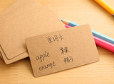 Small card blank black and white card kraft paper white card paper message card graffiti word card 200 sheets