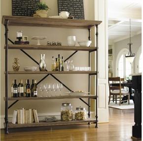 美式置物架铁艺家具储物架收纳架子整理复古做旧实木多层书架隔板