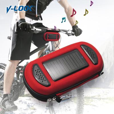 自行车载音响 太阳能充电手机音乐包 太阳能音箱移动电源 2600mAh