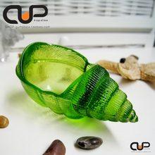 A款 绿植花瓶 彩色卡地亚海螺造型玻璃烟灰缸 饰摆件 甜品碗