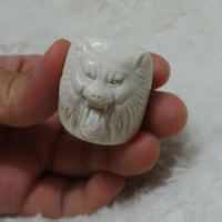 Natural Fidelity Antlers Seiko Sculpture Wolf Head Ring Exorcism