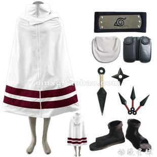 促销木叶披风火影忍者cosplay服装男女儿童成人武器配件鞋全套