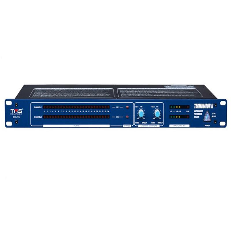 天马士SR-316反馈移频器 专业会议话筒啸叫抑制器 防啸叫抗干扰