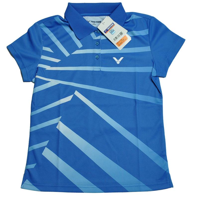 VICTOR/胜利 羽毛球服女士款 短袖T恤 翻领运动POLO衫S-1106