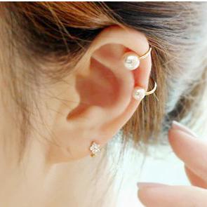 韩国珍珠耳骨夹U夹无耳洞耳环隐形耳钉耳夹女生日韩小巧夹款小巧