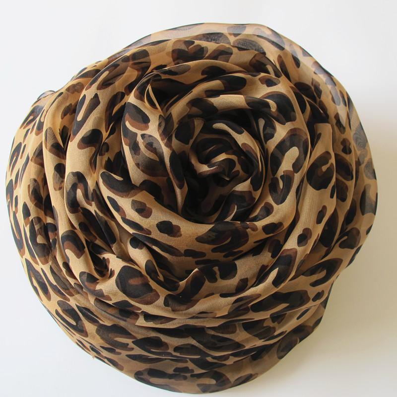 豹纹真丝丝巾