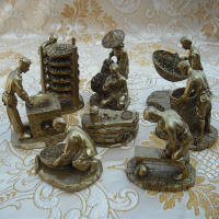 Fashion set stone tea tray accessories set Tieguanyin tea set of eight sets of sculpture tea set of 8