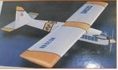 21-32级油动固定翼遥控轻木燃油练习教练机飞机航模制作图纸打印