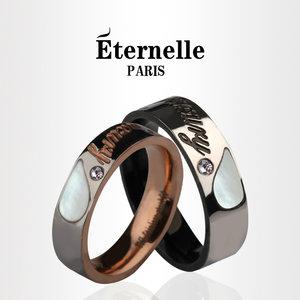 法国Eternelle欧美指环韩版时尚钛钢男士装饰戒指 情侣对戒一对价