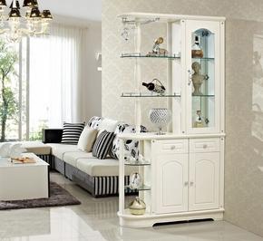 新款韩式田园玄关柜现代玻璃隔断柜简约酒柜装饰柜鞋柜白色间厅柜