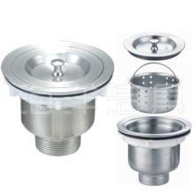 厨房水槽下水器下水管软管洗菜盆洗碗水池304全钢下水器配件 包邮