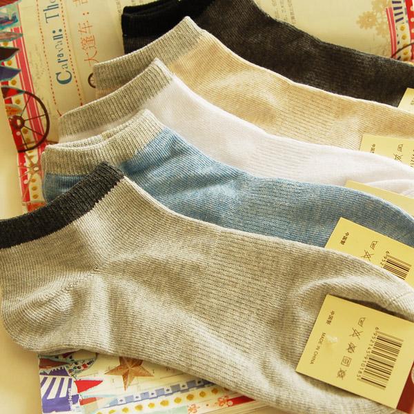 6双包邮男士船袜棉袜商务简洁绅士男袜子浅口春夏袜子薄棉袜