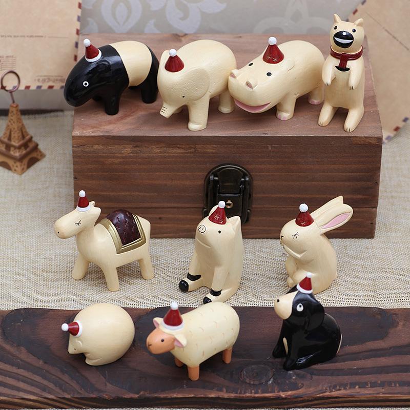 zakka杂货小时光圣诞版动物拍摄道具创意生日礼物摆件家居饰品