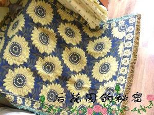 [五钻后花园T价]出口比利时棉毯(朴素的梵高)VS沙发盖布