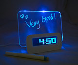 Good time creative fluorescent message board clock student romantic exquisite gift electronic bedside alarm clock personalized custom