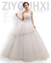 婚纱礼服 2013夏季新款抹胸 韩版蕾丝 水晶镶钻蓬蓬婚纱礼服