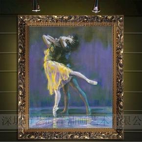 手绘欧式画有框油画墙壁画家居装饰画卧室挂画ktv印象人物43224