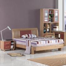北欧风格 儿童实木床 单人床 时尚简约 水曲柳青少年卧室家具