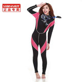 Manner Women's Long Sleeve Wetsuit Diving Suit Winter Swimsuit Surfing Suit / Diving Snorkel Mirror Combination