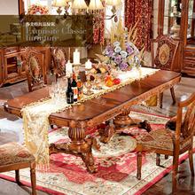 特价 伸缩餐桌 守静妥酪蛔懒椅 长方形餐桌 美式乡村餐桌椅组合