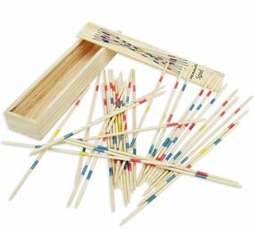 乐比比正品80后儿时回忆 木质游戏棒挑花棍撒棒 彩色31根益智玩具