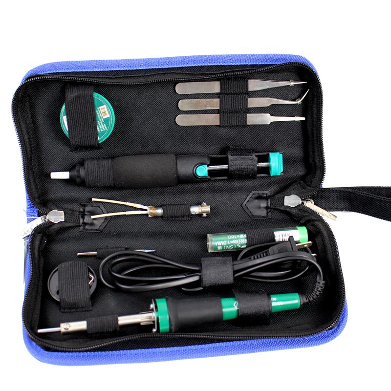 老A11件套电子维修工具套装电烙铁焊油吸锡器组套LA101311