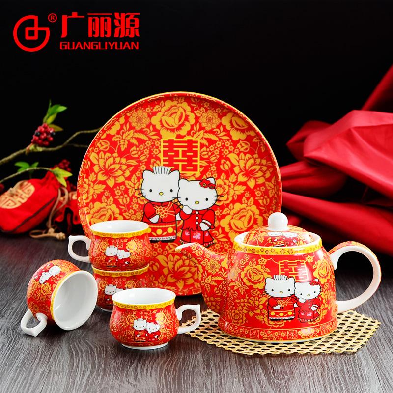 婚庆茶杯碗套装