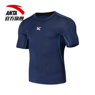 安踏男装 新款百搭训练紧身健身衣速干运动服跑步运动短袖T恤
