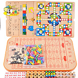 checkers children multifunctional twenty-three chess board wooden toys chess parent-child interaction board games educational toys