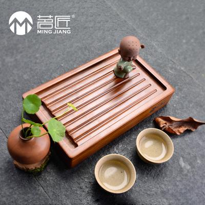 茗匠重竹茶盘茶海竹制实木排水式茶台迷你茶盆小号整块茶托盘价格