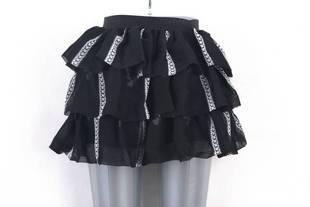 亏本特价 韩版纯色雪纺蛋糕裙 纯色半身裙 女式甜美裙子
