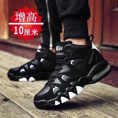 2018冬季男鞋男士休闲运动保暖加绒棉鞋潮鞋内增高10cm韩版蓝球鞋