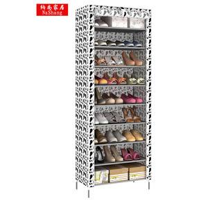 包邮 出租房多变牛津布防尘鞋架 简易组合收纳柜布 多层特价鞋柜