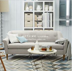 布艺美式沙发 小户型沙发 北欧美式乡村单人双人三人休闲布沙发