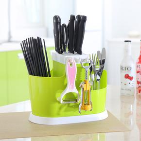 多功能家用插放厨房用品收纳置物架菜刀架刀座筷笼一体筷筒