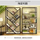 简约现代客厅创意铁艺书架书柜搁板置物架层架落地格架精品展示架