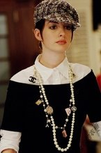 现货安妮海瑟薇同款拼接针织衫女长袖秋装英伦学院与白领名媛