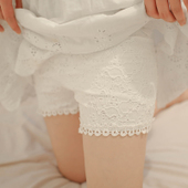 春装女士蕾丝短裤夏外穿打底裤花边三分安全裤防走光女薄大码