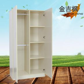 简约现代儿童衣柜简易木质单人小衣柜二门衣柜经济型阳台储物柜