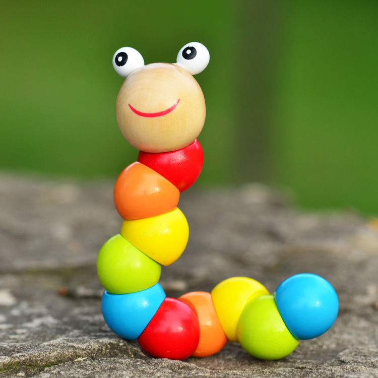 Variety Twisted Worm 6 Months + Baby Toys Wood Caterpillars Baby Puzzle 0-