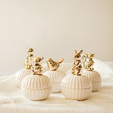 Export American Golden Ceramic Jewelry Box Cute Bear Ornament Storage Box Wedding Candy Box Nordic Wind