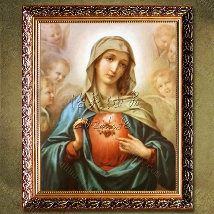 圣母玛利亚油画