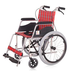 君缘铝合金老人轮椅 折叠轻便手推车残疾人便携轮椅车免充气