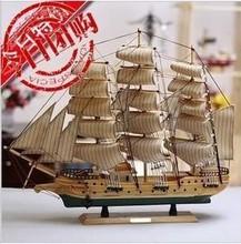 饰品地中海摆件手工艺品船 一帆风顺木质帆船模型生日礼物家装 包邮